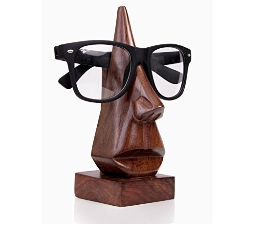 Handgeschnitzter Brillenhalter aus Rosenholz
