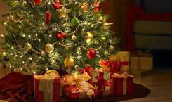 Weihnachtsgeschenke unter einem geschmückten Weihnachtsbaum
