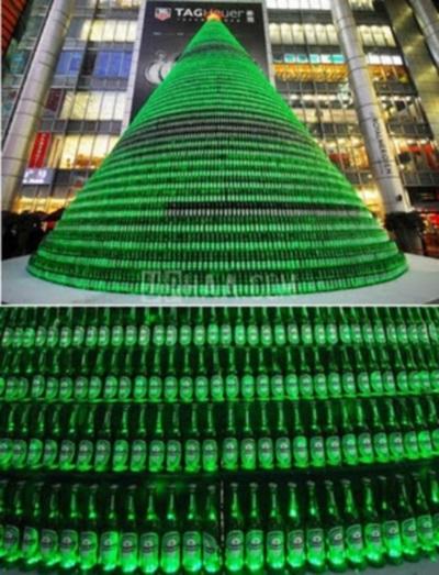 Weihnachtsbaum Aus Flaschen