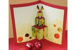 weihnachtskarten pop up karte basteln. Black Bedroom Furniture Sets. Home Design Ideas