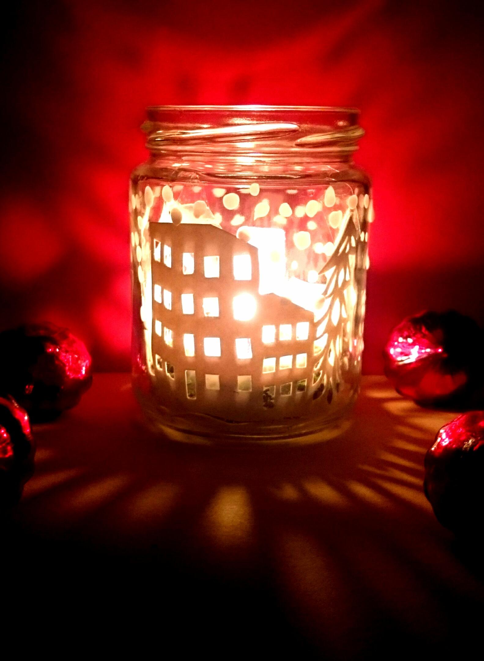 weihnachts windlicht selber machen. Black Bedroom Furniture Sets. Home Design Ideas